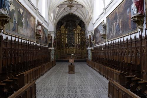 Iglesia de la Cartuja de Aula Dei, con las pinturas murales de Goya
