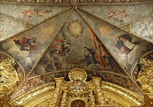 San Carlos frescos capilla