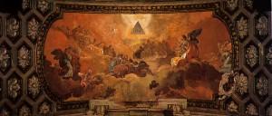 """""""Adoración del nombre de Dios por los ángeles"""", en la bóveda del Coreto del Pilar"""